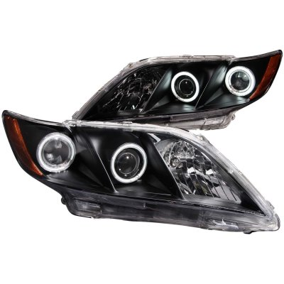 Toyota Camry 2007-2009 Black Projector Headlights CCFL Halo