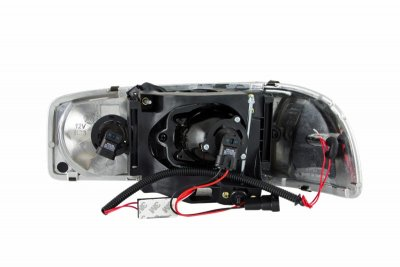 2005 gmc sierra denali clear projector headlights with. Black Bedroom Furniture Sets. Home Design Ideas