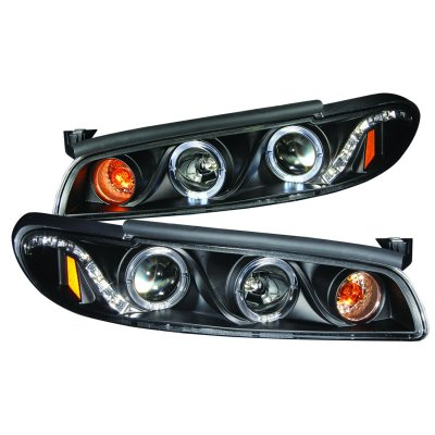 Pontiac Grand Prix 1997-2003 Projector Headlights Black Halo LED