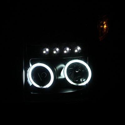 Ford F250 Super Duty 2011-2016 Projector Headlights Black CCFL Halo LED