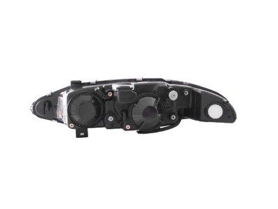 Mitsubishi Eclipse 1995-1996 Black Projector Headlights with Halo