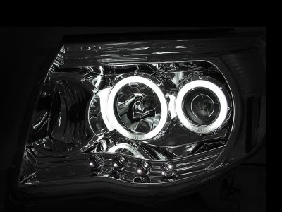 Toyota Tacoma 2005-2011 Clear Projector Headlights CCFL Halo LED