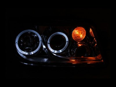 VW Jetta 1999-2005 Projector Headlights Chrome Halo with Fog Lights