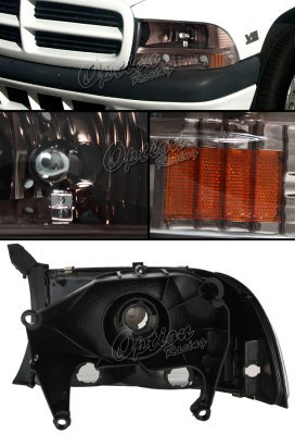Dodge Durango 1998-2003 Smoked Euro Headlights