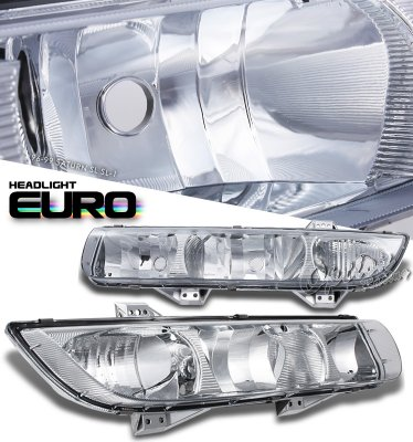 Saturn SL 1996-1999 Clear Euro Headlights