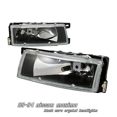 Nissan Maxima 1989-1994 Black Euro Headlights