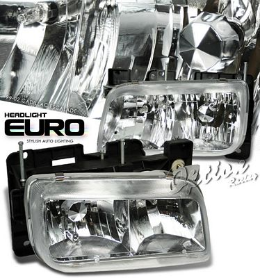 Cadillac Escalade 1999-2000 Clear Euro Headlights