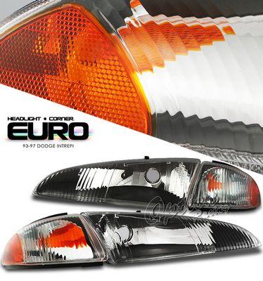Dodge Intrepid 1993 1997 Black Headlights With Corner Lights A101naz1102 Topgearautosport