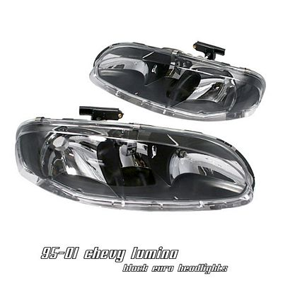 Chevy Lumina 1995 2001 Black Euro Headlights A101vfk8102 Topgearautosport
