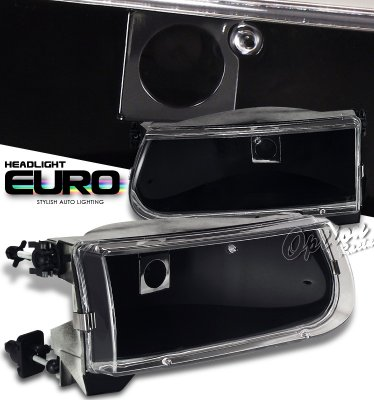 Ford Explorer 1995-2001 Black Euro Headlights