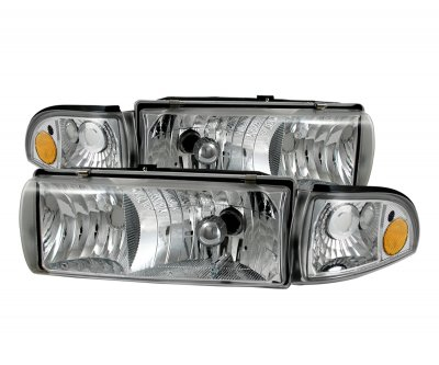 Chevy Impala 1991-1996 Clear Euro Headlights with Corner lights