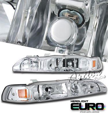 Acura Integra 1990-1993 Chrome Euro Headlights