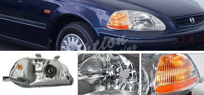 Honda Civic 1996-1998 Chrome Euro Headights