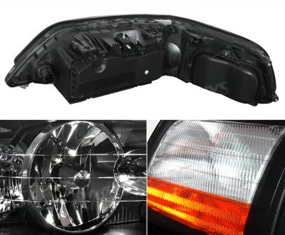 lincoln town car 2003 2004 black euro headlights a101ywl3102 topgearautosport. Black Bedroom Furniture Sets. Home Design Ideas