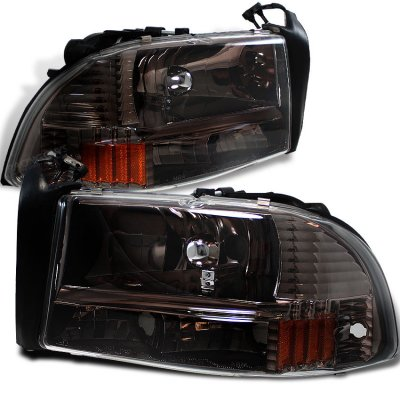 Dodge Dakota 1997 2004 Smoked Euro Headlights