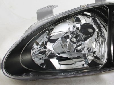 Honda Del Sol 1993-1997 JDM Black Euro Headlights