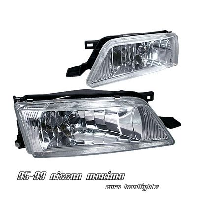 nissan maxima 1995 1999 clear euro headlights. Black Bedroom Furniture Sets. Home Design Ideas