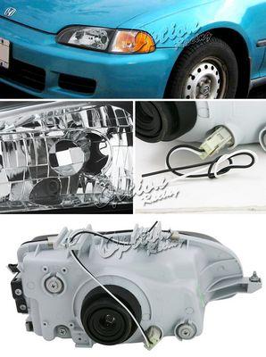 Honda Civic 1992-1995 JDM Black Euro Headlights