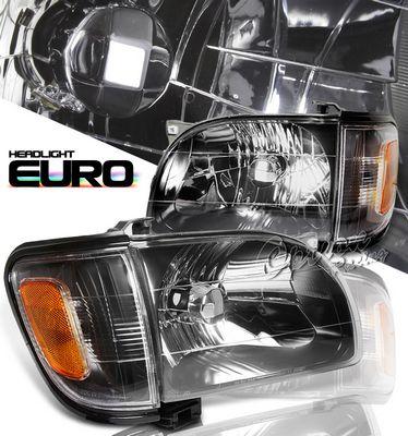 Toyota Tacoma 2001-2004 Black Euro Headlights