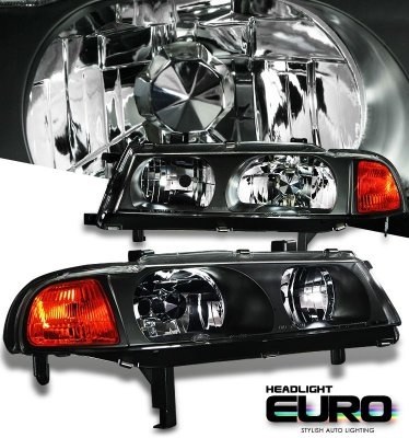Honda Prelude 1992-1996 JDM Black Euro Headlights