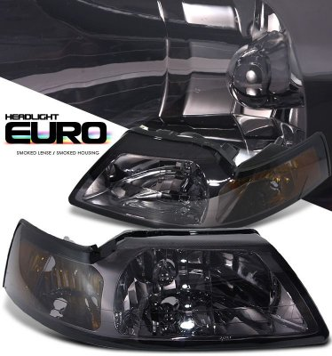 Ford Mustang 1999-2004 Smoked Crystal Headlights