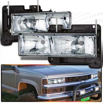 GMC Sierra 1988-1998 Clear Euro Headlights