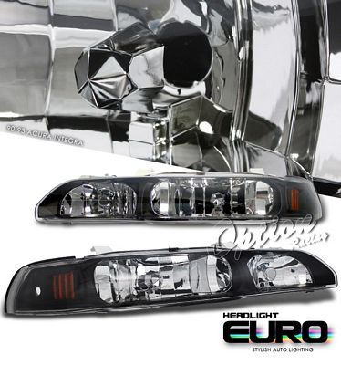 Acura Integra 1990-1993 JDM Black Euro Headlights