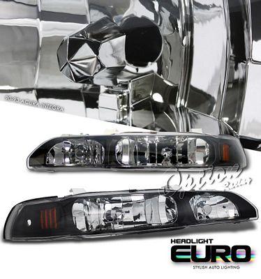 Acura Integra 1990-1993 JDM Black Euro Headlights