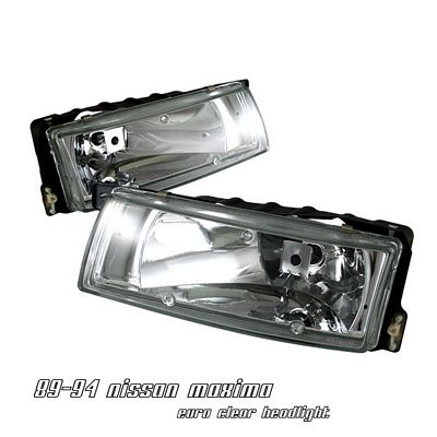 Nissan Maxima 1989-1994 Clear Euro Headlights