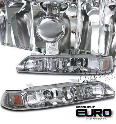 Acura Integra 1990-1993 Smoked Euro Headlights