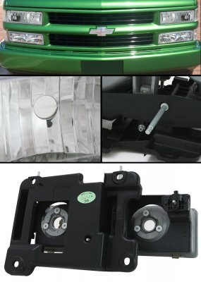 Chevy Silverado 1994-1998 Clear Euro Headlights