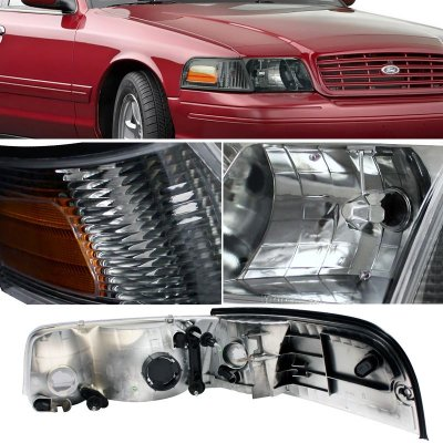 Ford Crown Victoria 1998 2017 Smoked Headlights And Corner Lights