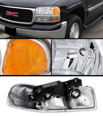 GMC Yukon 2000-2006 Chrome Headlights