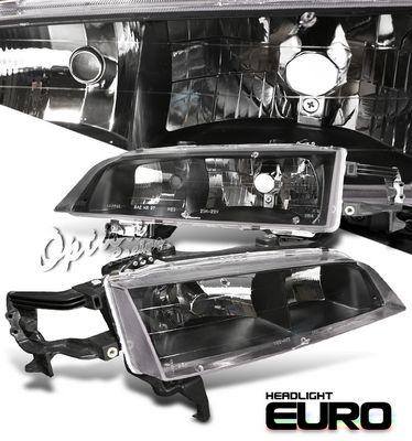 Honda Accord 1994-1997 JDM Black Euro Headlights