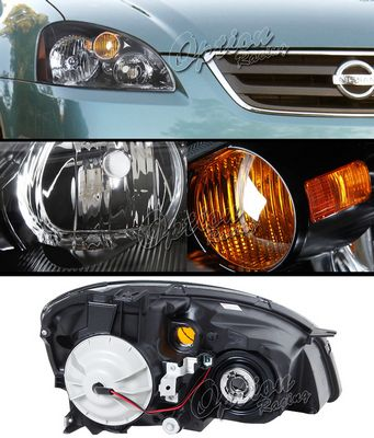 Nissan Altima 2002-2004 Black Euro Headlights