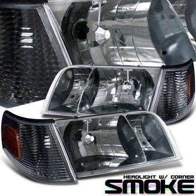 Dodge Ram Bull Bar >> Ford Crown Victoria 1998-2011 Smoked Headlights and Corner Lights | A101HOQY102 - TopGearAutosport