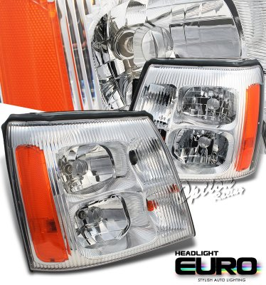 Cadillac Escalade 2002 Clear Euro Headlights