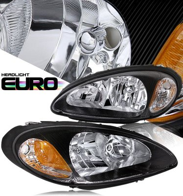 Chrysler PT Cruiser 2001-2005 Black Euro Headlights