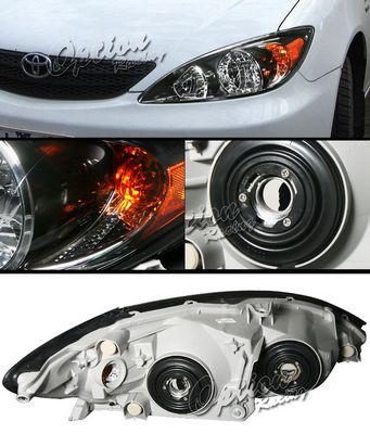 Toyota Camry 2002-2004 Black Euro Headlights