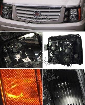 Cadillac Escalade 2002 Black Euro Headlights