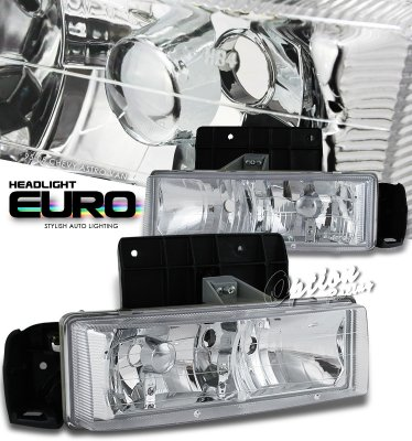 Chevy Astro 1995-2005 Clear Euro Headlights