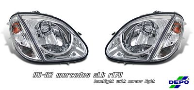 Mercedes Benz SLK 1998-2004 Depo Clear Euro Headlights
