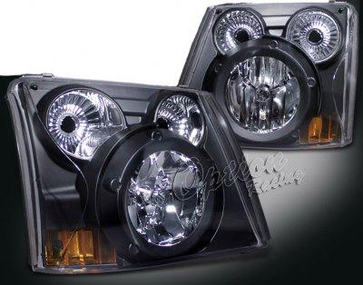 Chevy Silverado 2003-2005 Black Headlights and Bumper Lights Conversion