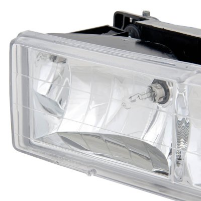 Chevy Suburban 1992-1999 Clear Euro Headlights