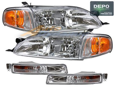 Toyota Camry 1995-1996 Depo Clear Euro Headlights