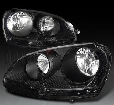 Vw Jetta 2005 2010 Depo Black Euro Headlights A102b55b102 Topgearautosport