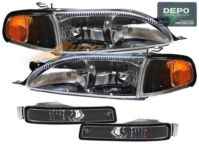 Toyota Camry 1995 1996 Depo Black Euro Headlights A102vmng102 Topgearautosport