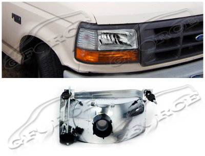 Ford F250 1992-1996 Depo Clear Euro Headlights