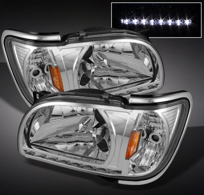 Toyota Tacoma 2001 2004 Clear Euro Headlights With Corner Lights A1036hbq102 Topgearautosport