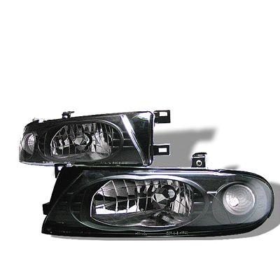 Nissan Altima 1993-1997 Black Euro Headlights